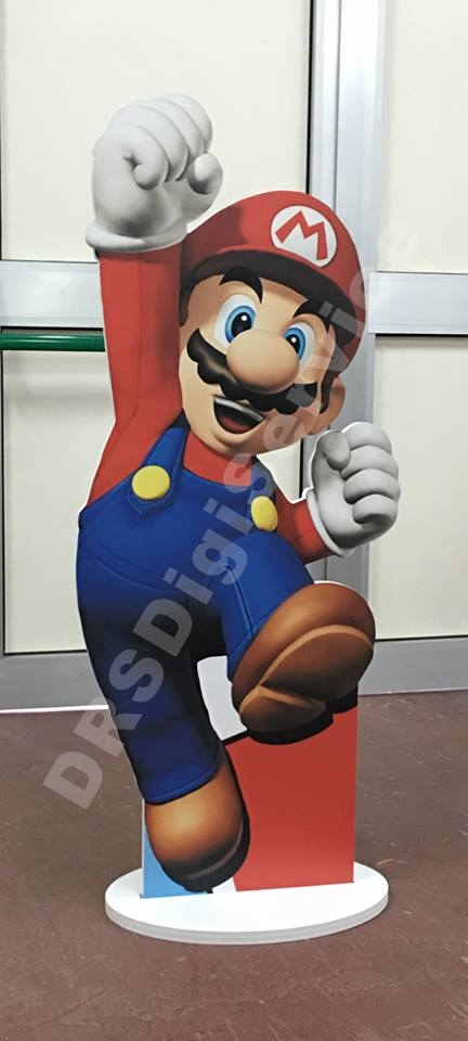 sagoma autoportante super mario bross