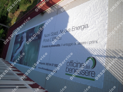 striscione pvc rete antivento