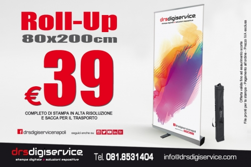 espositore avvolgibile roll up 80x200cm