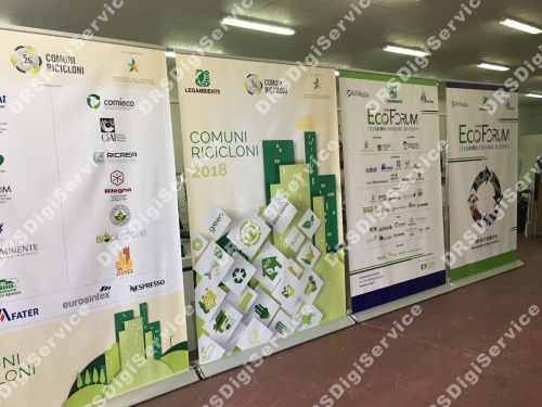 espositore roll up 150x220cm
