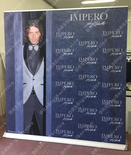roll up 200x210cm espositore avvolgibile