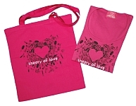 T-shirt and shopper - Theory of love